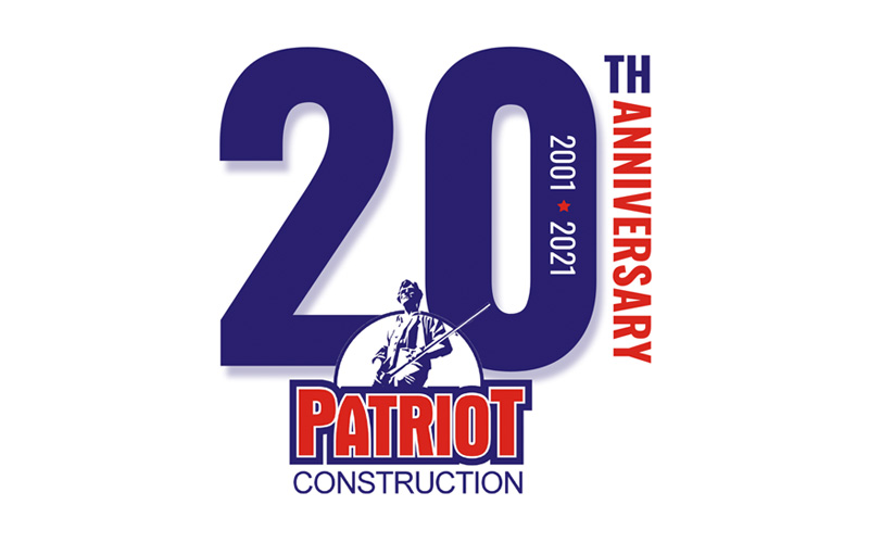 Patriot Construction Celebrates 20th Anniversary